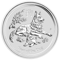 5 oz 2018 Perth Mint Lunar Year of the Dog Sølvmynt