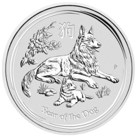 10 oz 2018 Perth Mint Lunar Year of the Dog Silver Coin