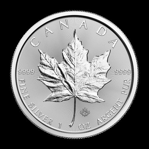 Pièce d'argent Feuille d'érable canadienne 2018 de 1 once