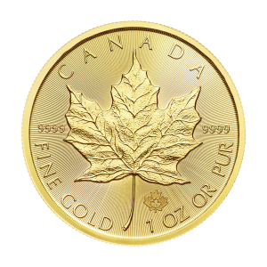 Moneda de Oro Hoja de Arce Canadiense 2018 de 1 oz