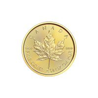 1/4 oz 2018 Canadisk Maple Leaf Gullmynt