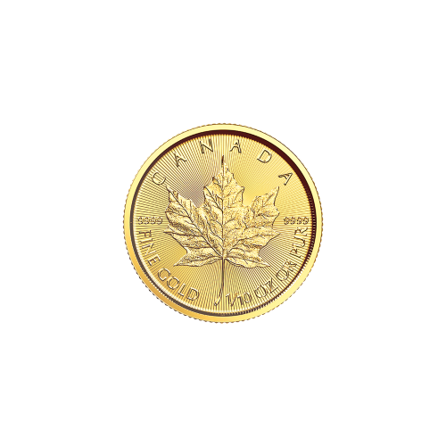 1/10 oz 2018 Canadian Maple Leaf Gold Coin