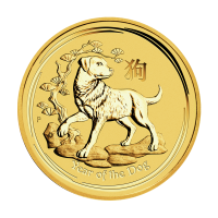 1/2oz 2018 Perth Mint Lunar Year of the Dog Gold Coin