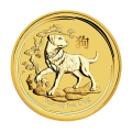 1/2 oz Goldmünze Jahr des Hundes Perth Mint Mondserie 2018