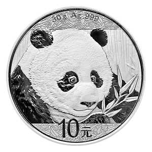 30 g 2018 Chinese Panda Silver Coin