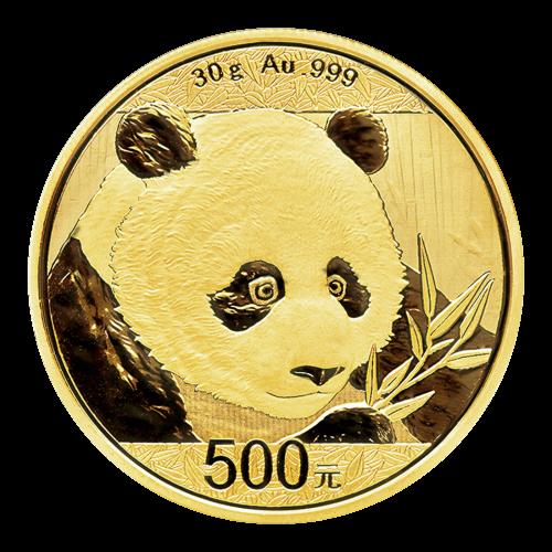 30 g 2018 Chinese Panda Gold Coin