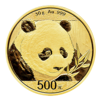 30 g 2018 Chinese Panda Gold Coin