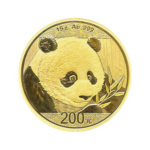 15 g 2018 Chinese Panda Gold Coin