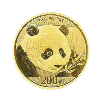 15 gram 2018 Chinese Panda Gold Coin