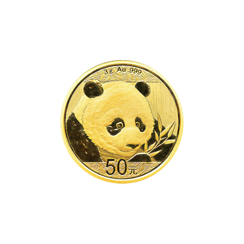 3 g 2018 Chinese Panda Gold Coin