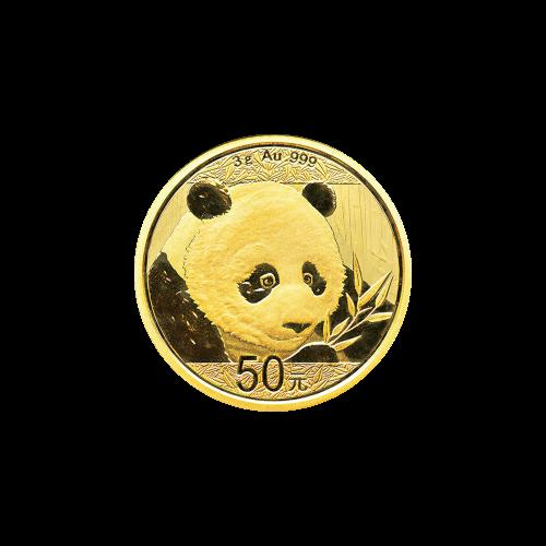Pièce d'or Panda chinois 2018 de 3 g