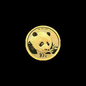 Pièce d'or Panda chinois 2018 de 1 g
