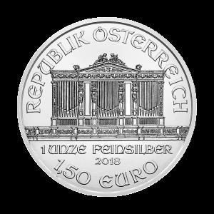 Moneda de Plata Filarmónica Austríaca 2018 de 1 oz