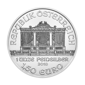 1 oz 2018 Austrian Philharmonic Silver Coin