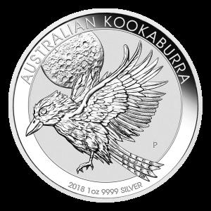 Pièce d'argent Kookaburra australien 2018 de 1 once