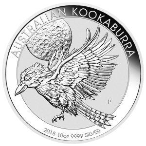 10 oz Silbermünze australischer Kookaburra 2018