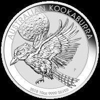 10 oz 2018 Australische Kookaburra Zilveren Munt