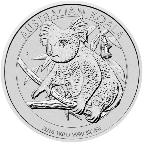 1 kg | kilo 2018 Australian Koala Silver Coin