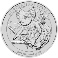 מטבע כסף קואלה אוסטרלי משנת 2018 משקל קילו