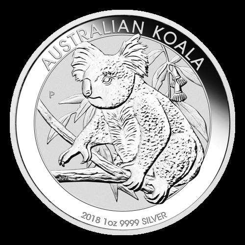 Moneda de Plata Koala Australiano 2018 de 1 oz