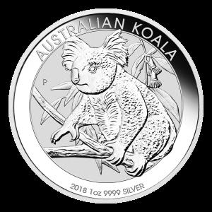 1oz 2018 Australian Koala Silver Coin
