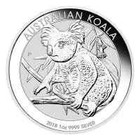 Pièce d'argent Koala australien 2018 de 1 once