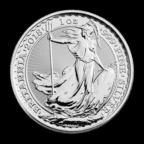 1 oz 2018 Britannia Sølvmynt