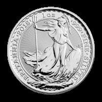 Pièce d'argent Britannia 2018 de 1 once