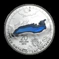 1 oz 2014 The Great Lakes Series | Lake Ontario Silver Coin