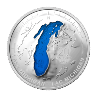 1 oz 2015 The Great Lakes Series | Lake Michigan Silver Coin