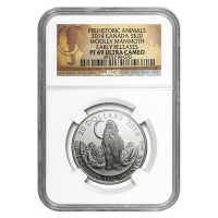 Moneda de Plata Woolly Mammoth NGC PF-69 (ER) 2014 de 1 oz