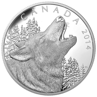 1/2 kg | kilo 2014 Howling Wolf Silver Coin