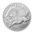 1 oz 2018 British Royal Mint Lunar Year of the Dog Silver Coin
