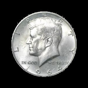 1964 Kennedy U.S Silver Half dollar BU 90% Pure Silver Coin