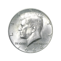 1964 Kennedy U.S Silver Half dollar Circulation 90% Pure Silver Coin