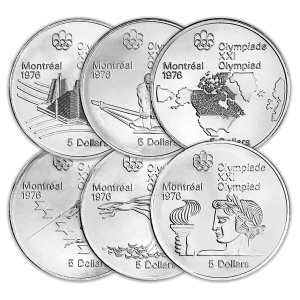 Assorted $5 Montreal Olympic Sterling Silver Coin