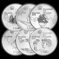 عملات فضية متنوعة الاسترليني 5 دولار الاولمبيات منتريال