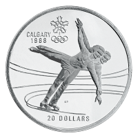 Assorted $20 Calgary Olympic Sterling Silver Coin