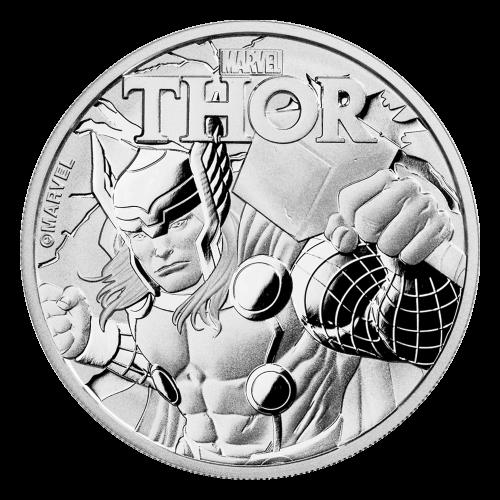 1 oz 2018 Thor Sølvmynt