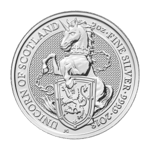 2 oz 2018 Royal Mint Queen's Beasts | Unicorn of Scotland Silver Coin