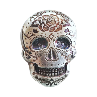 2 oz Monarch Handgegoten Rose Sugar Silver Skull