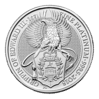 1 oz 2018 Royal Mint Queen's Beasts | Griffin of Edward III Platinamynt