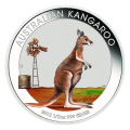 1 oz 2012 Coin Show Special Australian Kangaroo Coloured Silver Coin