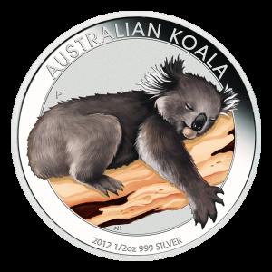1 oz Silbermünze australischer Koala Münzshow Sonderausgabe in Farbe 2012