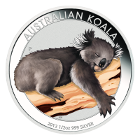 Moneda de Plata Especial Coloreada Koala Australiano 2012 de 1 oz