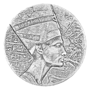 5 oz 2017 Egyptian Relic Series | Queen Nefertiti Silver Coin