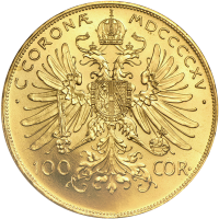 Random Year Austrian 100 Coronas Gold Coin