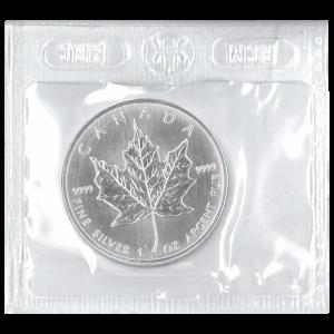 Pièce d'argent Feuille d'érable canadienne scellée Flex 2001 de 1 once