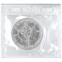 1 oz 2001 Canadian Maple Leaf Flex Sealed Zilveren Munt