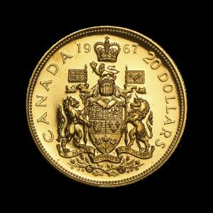 1967 Royal Canadian Mint Centennial Gold Coin